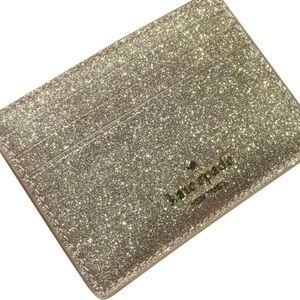 NWT Kate Spade Joeley Gold Slim Card Holder
